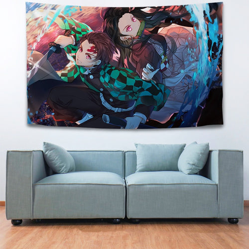 Demon Slayer Kimetsu no Yaiba #19 Wall Decor Hanging Tapestry Home Bedroom Living Room Decoration