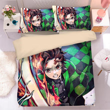 Load image into Gallery viewer, Demon Slayer Kimetsu no Yaiba  #43 Duvet Cover Quilt Cover Pillowcase Bedding Set Bed Linen