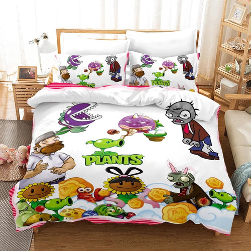 Plants vs Zombies #13 Duvet Cover Quilt Cover Pillowcase Bedding Set Bed Linen Home Bedroom Decor
