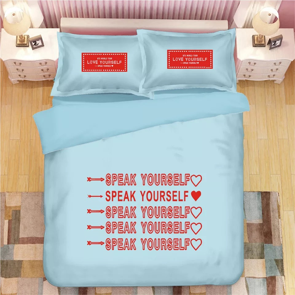 Kpop BTS Bangtan Boys Army A.R.M.Y Speak Yourself #30 Duvet Cover Quilt Cover Pillowcase Bedding Set Bed Linen Home Bedroom Decor