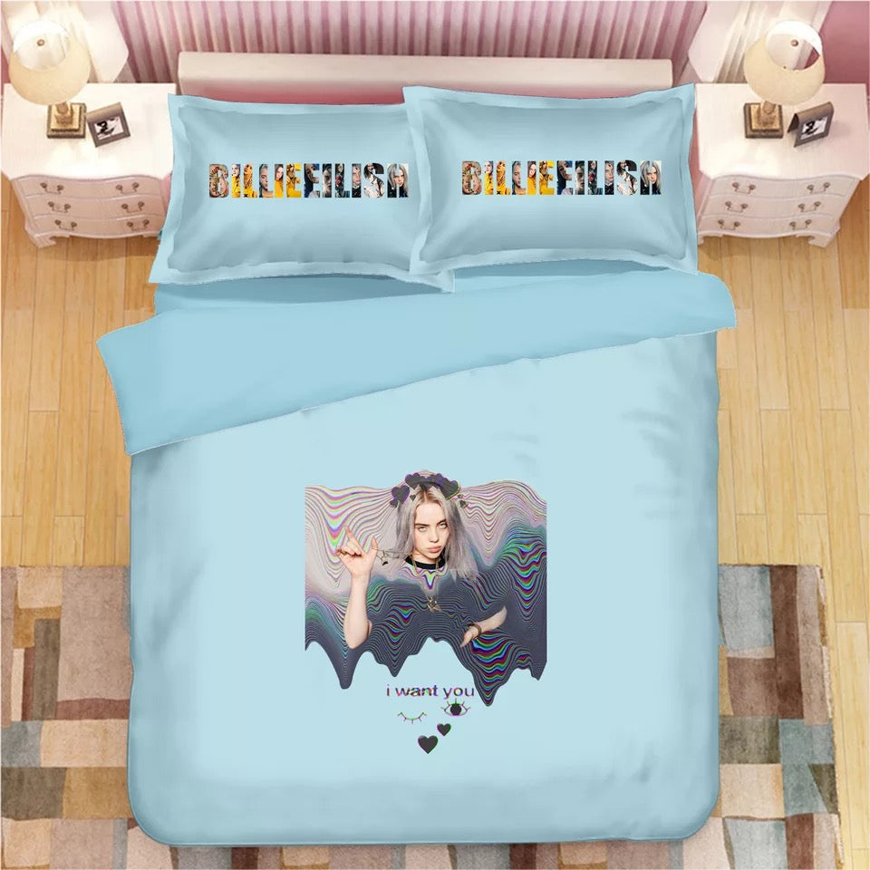 Billie Eilish Bellyache #4 Duvet Cover Quilt Cover Pillowcase Bedding Set Bed Linen Home Decor