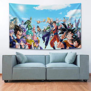 Dragon Ball Z Son Goku #25 Wall Decor Hanging Tapestry Home Bedroom Living Room Decoration
