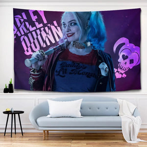 Suicide Squad Harley Quinn #11 Wall Decor Hanging Tapestry Home Bedroom Living Room Decoration