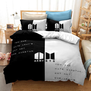 Kpop BTS Bangtan Boys Army A.R.M.Y  #19 Duvet Cover Quilt Cover Pillowcase Bedding Set Bed Linen Home Bedroom Decor