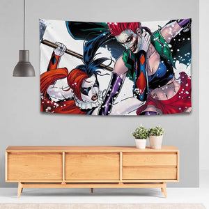 Suicide Squad Harley Quinn #29 Wall Decor Hanging Tapestry Home Bedroom Living Room Decoration