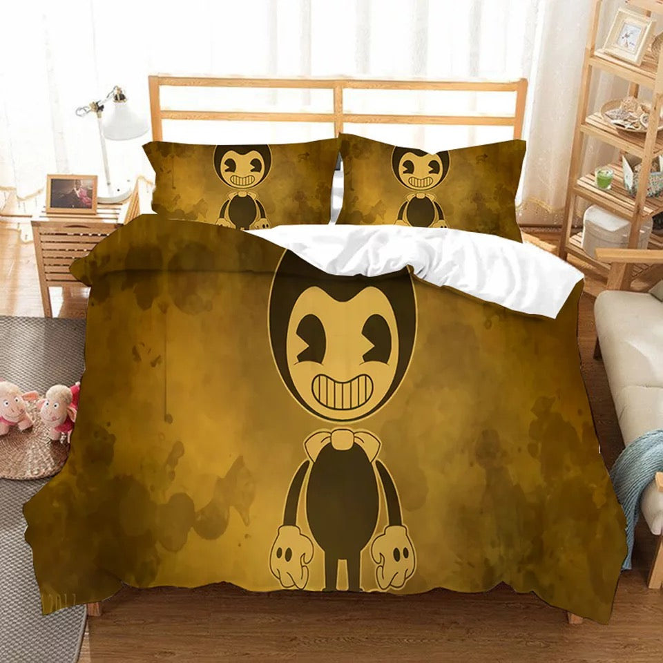 Bendy And The Ink Machine #5 Duvet Cover Quilt Cover Pillowcase Bedding Set Bed Linen Home Bedroom Decor