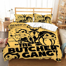 Load image into Gallery viewer, Bendy And The Ink Machine #7 Duvet Cover Quilt Cover Pillowcase Bedding Set Bed Linen Home Bedroom Decor