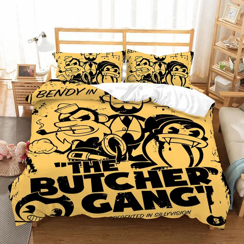 Bendy And The Ink Machine #7 Duvet Cover Quilt Cover Pillowcase Bedding Set Bed Linen Home Bedroom Decor