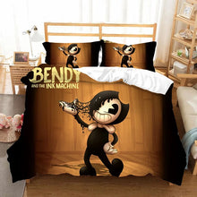 Load image into Gallery viewer, Bendy And The Ink Machine #8 Duvet Cover Quilt Cover Pillowcase Bedding Set Bed Linen Home Bedroom Decor