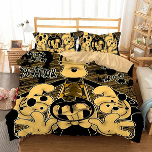 Bendy And The Ink Machine #10 Duvet Cover Quilt Cover Pillowcase Bedding Set Bed Linen Home Bedroom Decor
