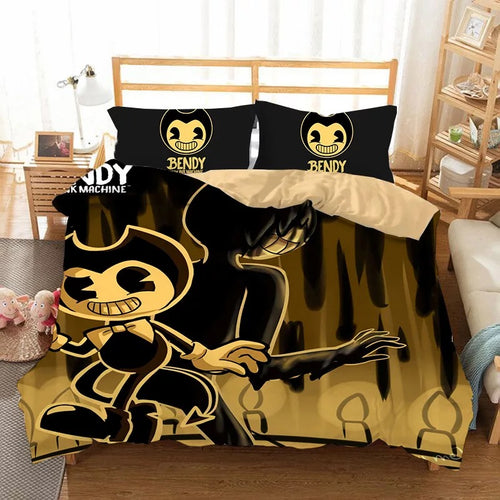 Bendy And The Ink Machine #12 Duvet Cover Quilt Cover Pillowcase Bedding Set Bed Linen Home Bedroom Decor