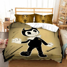Load image into Gallery viewer, Bendy And The Ink Machine #14 Duvet Cover Quilt Cover Pillowcase Bedding Set Bed Linen Home Bedroom Decor