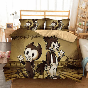 Bendy And The Ink Machine #15 Duvet Cover Quilt Cover Pillowcase Bedding Set Bed Linen Home Bedroom Decor