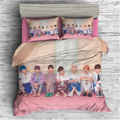 Kpop BTS Bangtan Boys Army A.R.M.Y  #46 Duvet Cover Quilt Cover Pillowcase Bedding Set Bed Linen Home Bedroom Decor