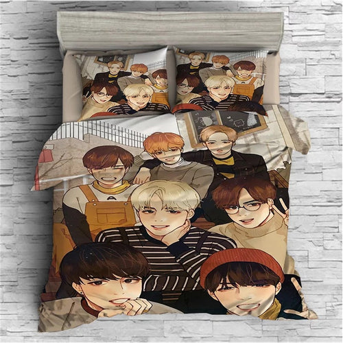 Kpop BTS Bangtan Boys Army A.R.M.Y  #47 Duvet Cover Quilt Cover Pillowcase Bedding Set Bed Linen Home Bedroom Decor