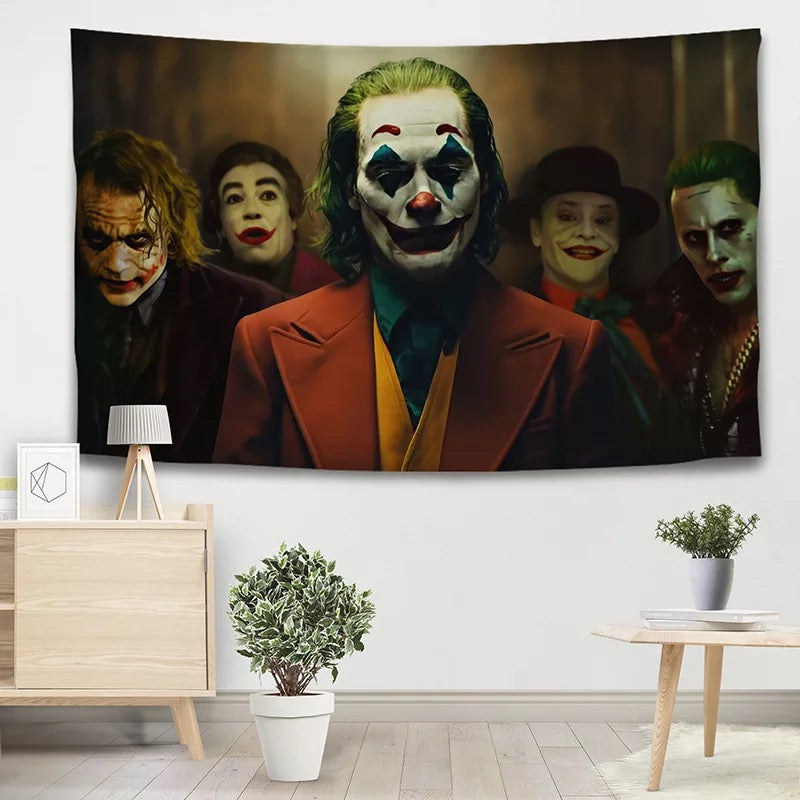 Joker Arthur Fleck Clown #11 Wall Decor Hanging Tapestry Home Bedroom Living Room Decoration
