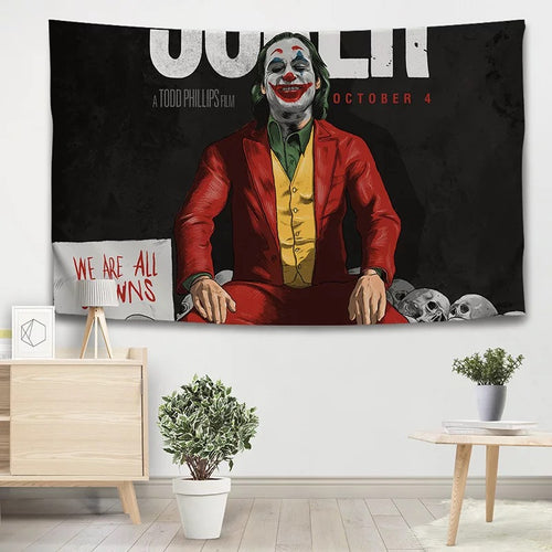 Joker Arthur Fleck Clown #13 Wall Decor Hanging Tapestry Home Bedroom Living Room Decoration