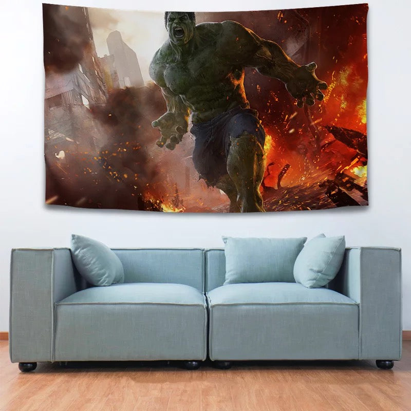 Hulk Avengers #14 Wall Decor Hanging Tapestry Home Bedroom Living Room Decoration
