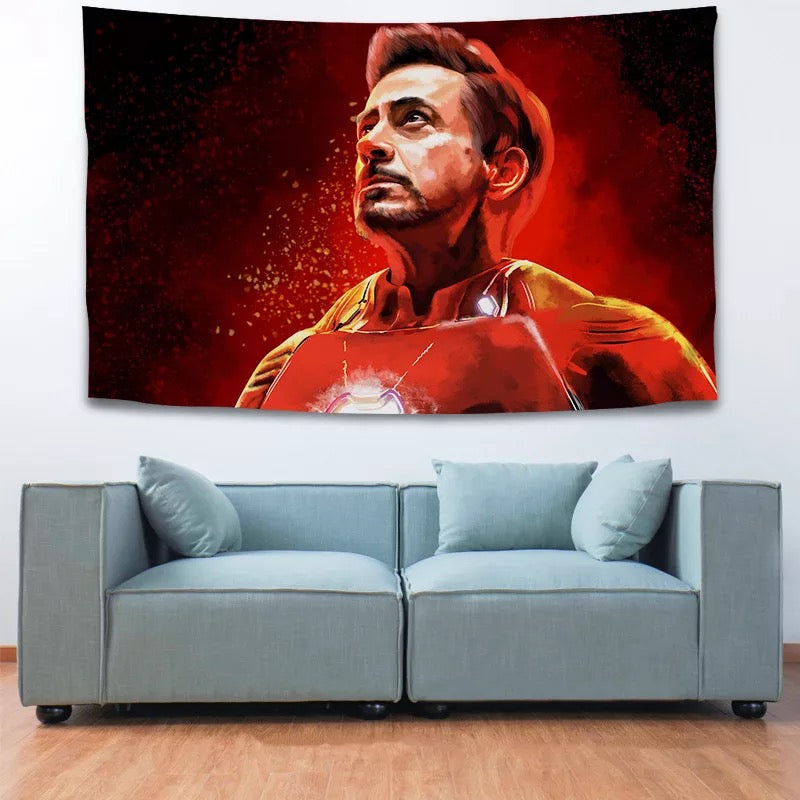 Iron Man  Avengers #18 Wall Decor Hanging Tapestry Home Bedroom Living Room Decoration