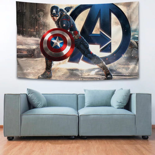 Captain America Avengers #19 Wall Decor Hanging Tapestry Home Bedroom Living Room Decoration