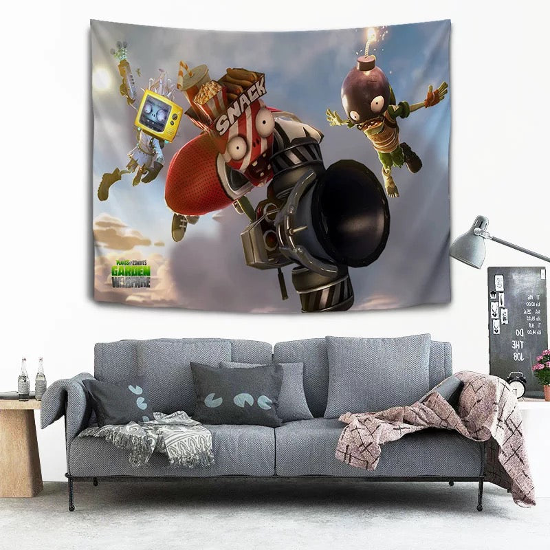 Plants vs Zombies #9 Wall Decor Hanging Tapestry Home Bedroom Living Room Decoration