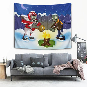 Plants vs Zombies #15 Wall Decor Hanging Tapestry Home Bedroom Living Room Decoration