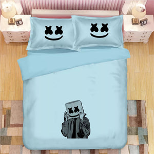 Fortnite Marshmello DJ #9 Duvet Cover Quilt Cover Pillowcase Bedding Set Bed Linen