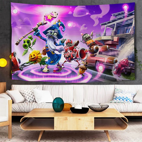 Plants vs Zombies #16 Wall Decor Hanging Tapestry Home Bedroom Living Room Decoration