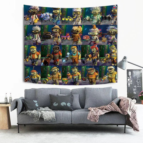 Plants vs Zombies #17 Wall Decor Hanging Tapestry Home Bedroom Living Room Decoration