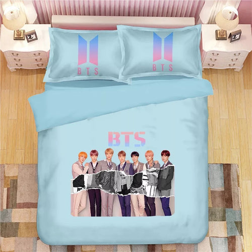 Kpop BTS Bangtan Boys Army A.R.M.Y  #26 Duvet Cover Quilt Cover Pillowcase Bedding Set Bed Linen Home Bedroom Decor
