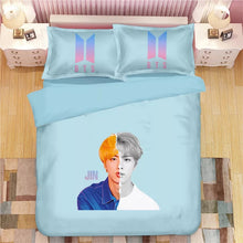Load image into Gallery viewer, Kpop BTS Bangtan Boys JIN #30 Duvet Cover Quilt Cover Pillowcase Bedding Set Bed Linen Home Bedroom Decor