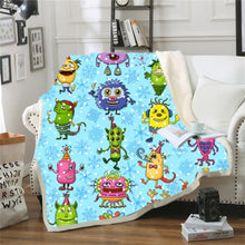 Load image into Gallery viewer, Monsters University Mike Wazowski #8 Blanket Super Soft Cozy Sherpa Fleece Throw Blanket for Men Boys