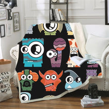 Load image into Gallery viewer, Monsters University Mike Wazowski #10 Blanket Super Soft Cozy Sherpa Fleece Throw Blanket for Men Boys