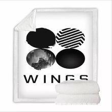 Load image into Gallery viewer, Kpop BTS Bangtan Boys Army A.R.M.Y #3 Blanket Super Soft Cozy Sherpa Fleece Throw Blanket for Men Boys