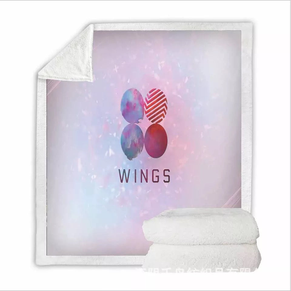 Kpop BTS Bangtan Boys Army A.R.M.Y #9 Blanket Super Soft Cozy Sherpa Fleece Throw Blanket for Men Boys