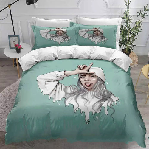 Billie Eilish Bellyache #21 Duvet Cover Quilt Cover Pillowcase Bedding Set Bed Linen Home Decor