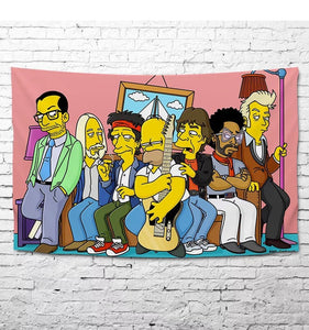 Anime The Simpsons Homer J. Simpson #28 Wall Decor Hanging Tapestry Home Bedroom Living Room Decoration