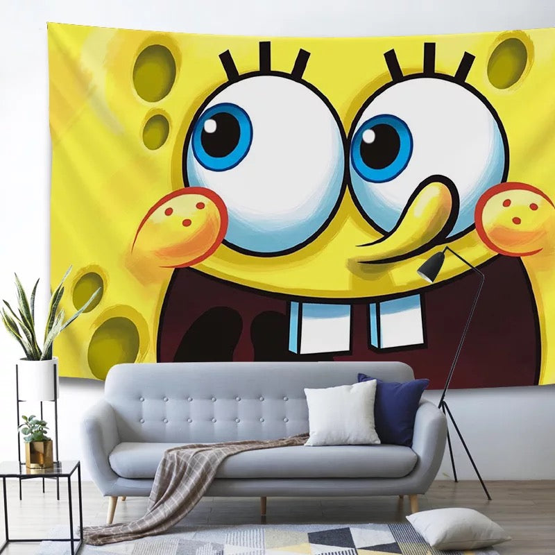 SpongeBob SquarePants #1 Wall Decor Hanging Tapestry Home Bedroom Living Room Decoration