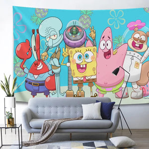 SpongeBob SquarePants #3 Wall Decor Hanging Tapestry Home Bedroom Living Room Decoration