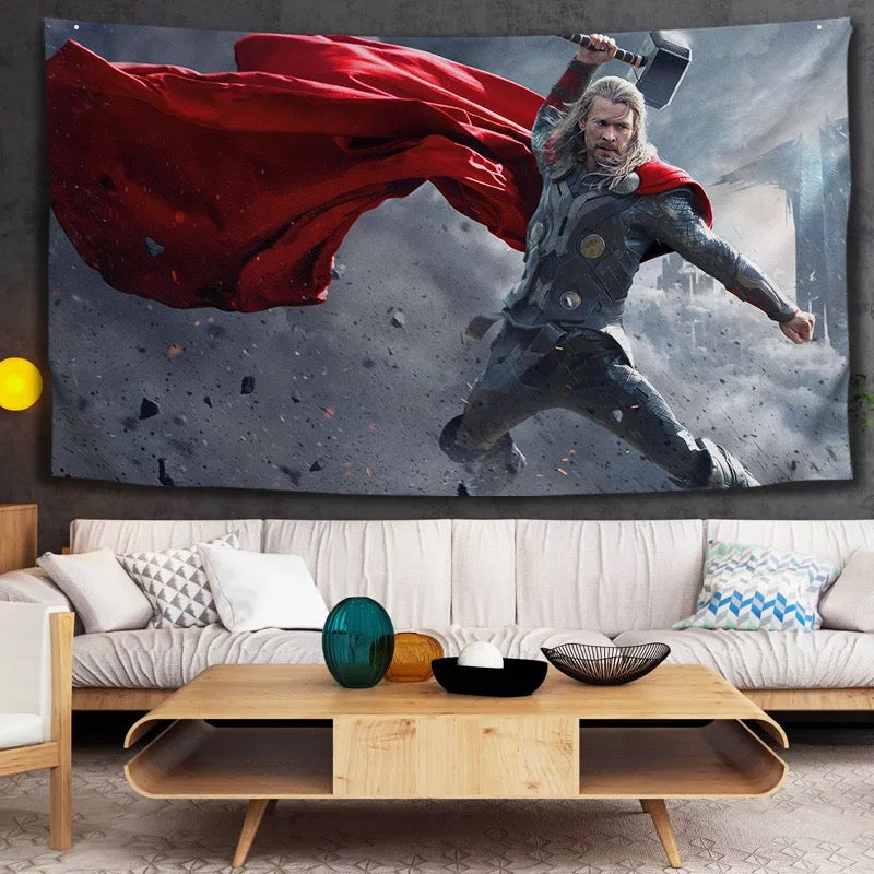 Thor Avengers #30 Wall Decor Hanging Tapestry Home Bedroom Living Room Decoration