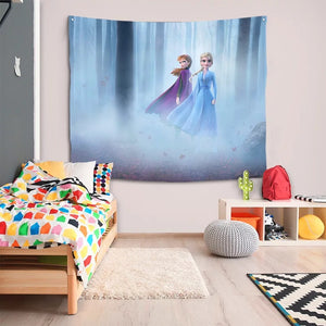Frozen Anna Elsa Princess #3 Wall Decor Hanging Tapestry Home Bedroom Living Room Decoration