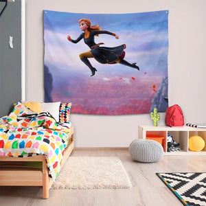 Frozen Anna Elsa Princess #30 Wall Decor Hanging Tapestry Home Bedroom Living Room Decoration