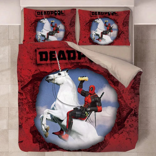 Deadpool X-Men #19 Duvet Cover Quilt Cover Pillowcase Bedding Set Bed Linen Home Decor