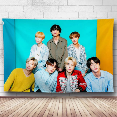 BTS Bangtan Boys #4 Wall Decor Hanging Tapestry Home Bedroom Living Room Decoration
