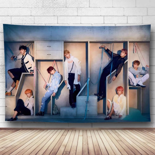 BTS Bangtan Boys #6 Wall Decor Hanging Tapestry Home Bedroom Living Room Decoration