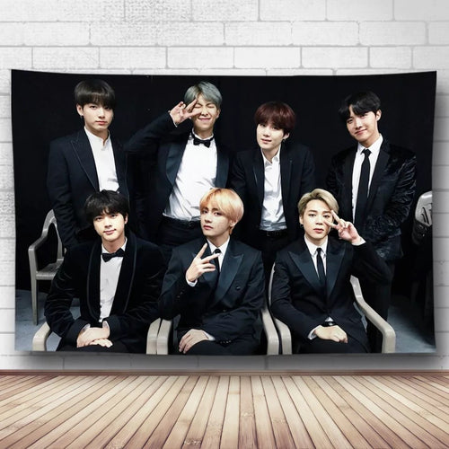 BTS Bangtan Boys #10 Wall Decor Hanging Tapestry Home Bedroom Living Room Decoration