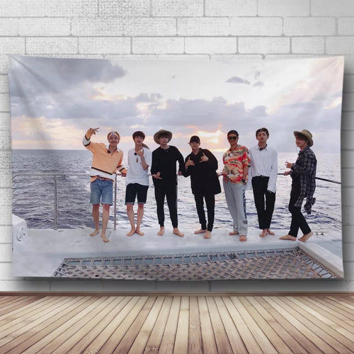 BTS Bangtan Boys #11 Wall Decor Hanging Tapestry Home Bedroom Living Room Decoration