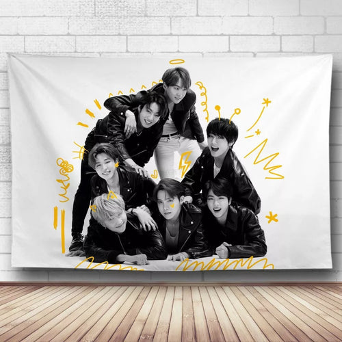 BTS Bangtan Boys #15 Wall Decor Hanging Tapestry Home Bedroom Living Room Decoration