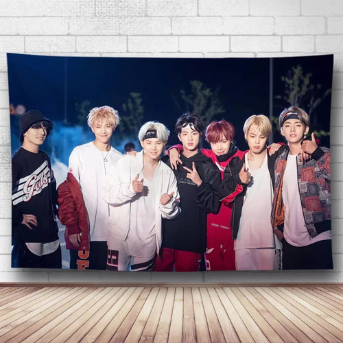 BTS Bangtan Boys #17 Wall Decor Hanging Tapestry Home Bedroom Living Room Decoration