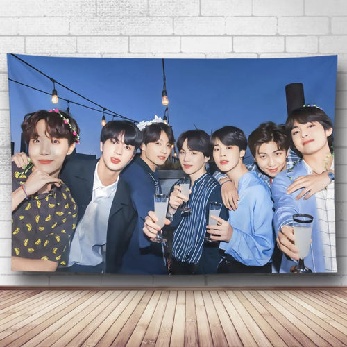 BTS Bangtan Boys #27 Wall Decor Hanging Tapestry Home Bedroom Living Room Decoration